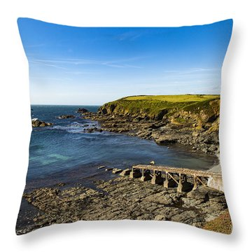 Throw Pillow featuring the photograph Old Life Boat Station by Brian Roscorla