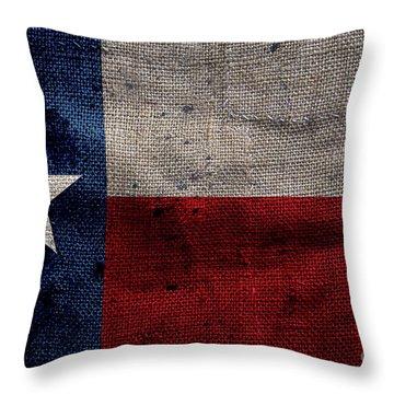 Old Lone Star Flag Throw Pillow by Jon Neidert
