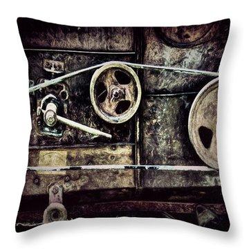 Old Machine Throw Pillow