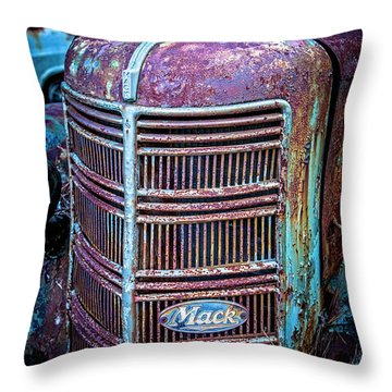 Old Mack Grille Throw Pillow