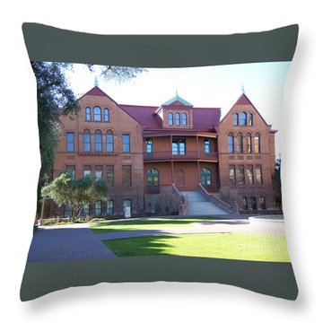 Old Main - Arizona State University Throw Pillow by Pamela Walrath
