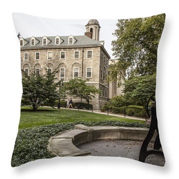 Old Main Penn State Bell  Throw Pillow by John McGraw