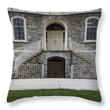 Old Main Penn State Stairs  Throw Pillow by John McGraw