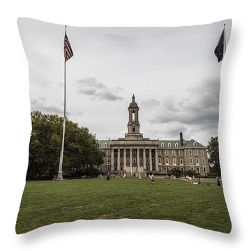 Old Main Penn State Wide Shot  Throw Pillow by John McGraw
