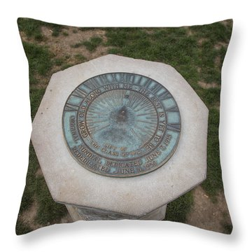 Old Main Statue  Throw Pillow by John McGraw