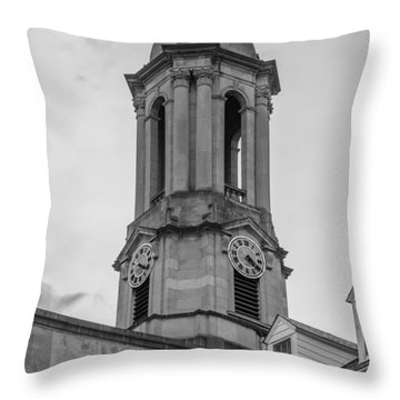 Old Main Tower Penn State Throw Pillow by John McGraw