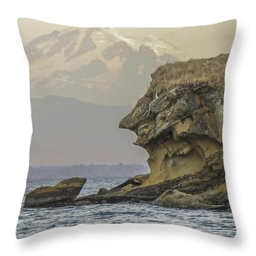 Old Man And The Mountain Throw Pillow