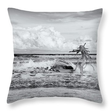 Old Man In The Sea Throw Pillow by Carolyn Dalessandro