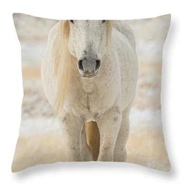 Old Man In Winter Throw Pillow