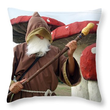 Old Man In Wonderland Throw Pillow