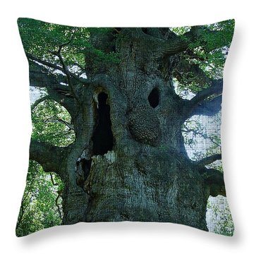 Old Man Tree Throw Pillow
