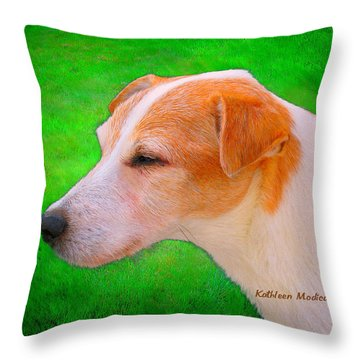 Old Man Whiskers Throw Pillow