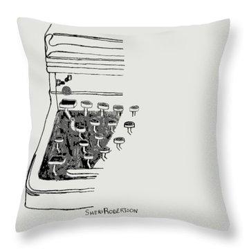 Old Manual Typewriter Throw Pillow by Sheri Buchheit