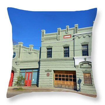 Old Market And Fire House Throw Pillow