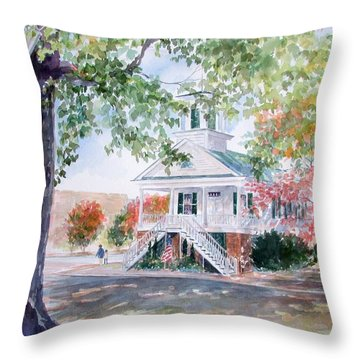 Old Market Hall Cheraw Throw Pillow by Gloria Turner