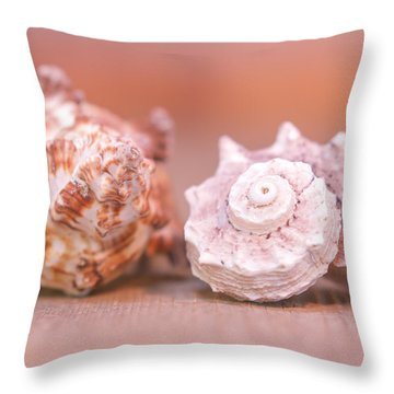 Shell Attractions Throw Pillow by Heidi Hermes