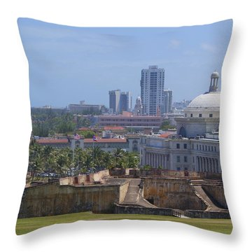 Old Meets New Throw Pillow by Lois Lepisto
