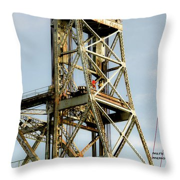 Old Memorial Bridge Throw Pillow