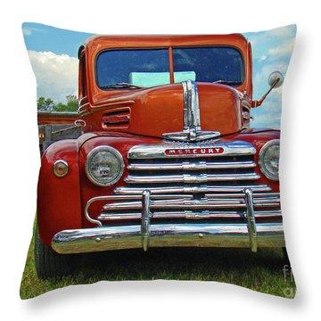Old Merc Throw Pillow by Al Bourassa