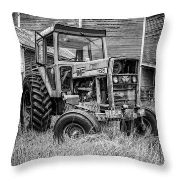 Old Mf Tractor Square Throw Pillow