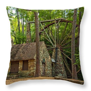 Old Mill At Berry College Throw Pillow
