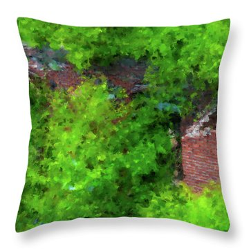 Old Mill Building In Lawrence Massachusetts Throw Pillow