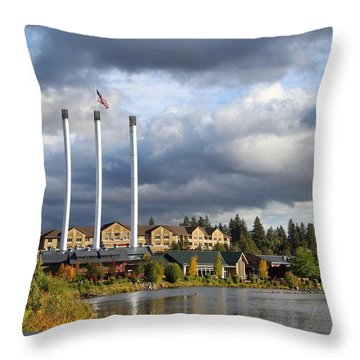 Old Mill District Throw Pillow