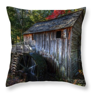 Old Mill In Fall  Throw Pillow