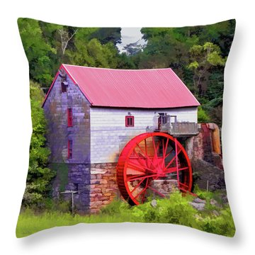 Old Mill Of Guilford Painted Square Throw Pillow
