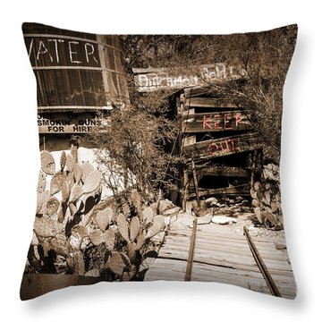 Old Mining Tracks Throw Pillow