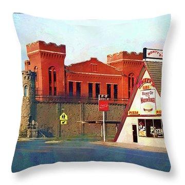 Old Montana Territorial State Prison  Throw Pillow