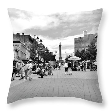 Old Montreal Jacques Cartier Square Throw Pillow