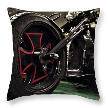 Old Motorbike Throw Pillow