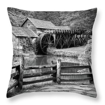 Old Mountain Morning Throw Pillow