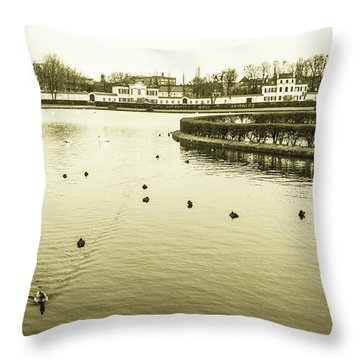 Old Munich Throw Pillow by Sergey Simanovsky