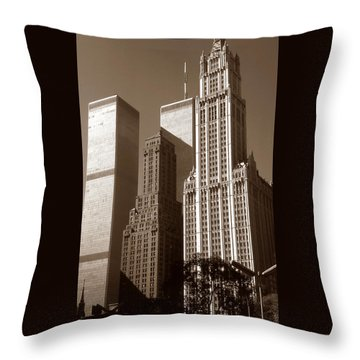 Old New York Photo - Woolworth Building Throw Pillow