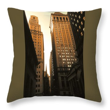 Old New York Wall Street Throw Pillow