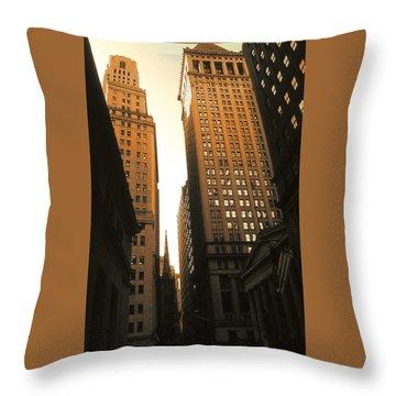 Old New York Wall Street Throw Pillow