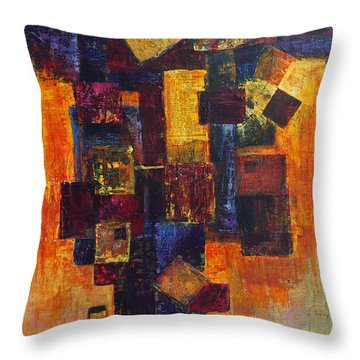 Old News Throw Pillow by Cindy Johnston