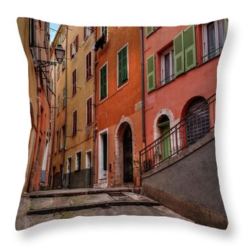 Throw Pillow featuring the photograph Old Nice - Vieille Ville 002 by Lance Vaughn