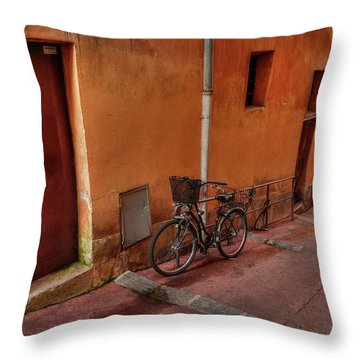 Throw Pillow featuring the photograph Old Nice - Vieille Ville 006 by Lance Vaughn