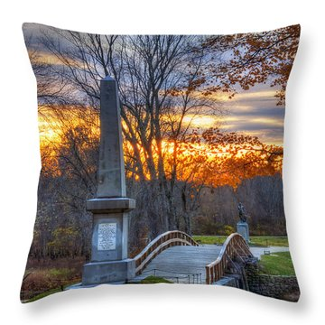 Old North Bridge - Concord Ma Throw Pillow