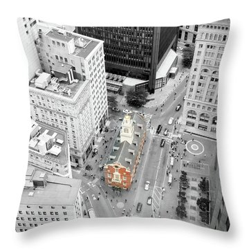 Old State House Throw Pillow by Greg Fortier