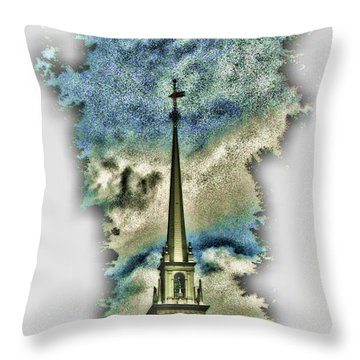 Old North Church Steeple Throw Pillow