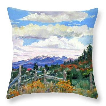 Old North Fence-in Colorado Throw Pillow