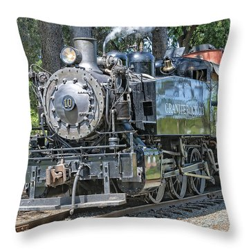 Throw Pillow featuring the photograph Old Number 10 by Jim Thompson