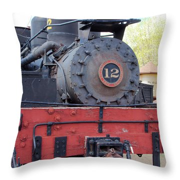 Old Number Twelve Throw Pillow