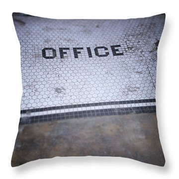 Old Office- Urban Photography By Linda Woods Throw Pillow