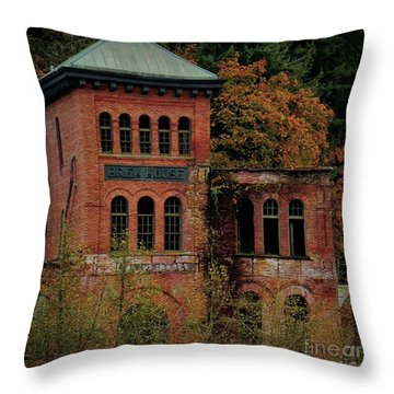 Throw Pillow featuring the photograph Old Olympia Brewery by Patricia Strand