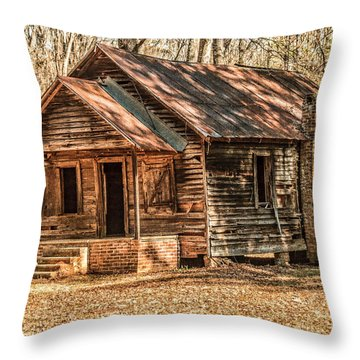Old One Room School House Throw Pillow by Phillip Burrow